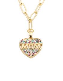 Fashion Color Zirconium Love Love Letter Micro Inlaid Zircon Necklace