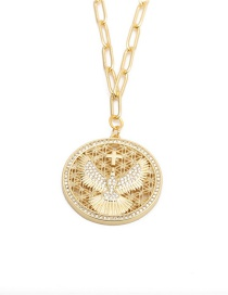 Fashion Dove Of Peace Dove Of Peace Round Necklace With Micro-set Zircons