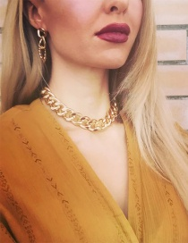 Fashion Gold Color 1 Thick Chain Geometric Alloy Necklace