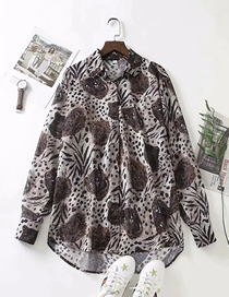 Fashion Tiger Print Leopard Tiger Print Loose Shirt