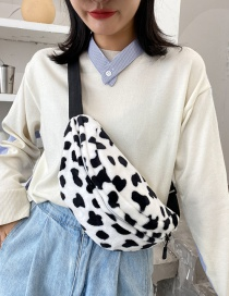 Fashion Cow Pattern Without Pendant Plush Cow Print One-shoulder Messenger Bag