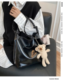 Fashion White Bear Twisted Rope Shoulder Strap Doll Single Shoulder Messenger Bag