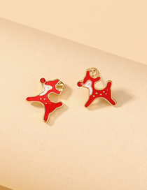 Fashion Fawn Christmas Dripping Alloy Fawn Earrings