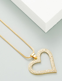 Fashion Golden Love Brass Necklace With Real Gold Plated