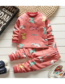Fashion Aircraft 55/80 Are Recommended For Height 73 Wear Printed Plus Velvet Thick Milk Silk Childrens Thermal Underwear And Home Service Suit