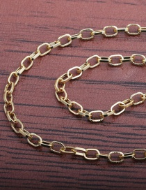 Fashion 50mm Chain Copper Gold-plated Thick Chain Hollow Necklace