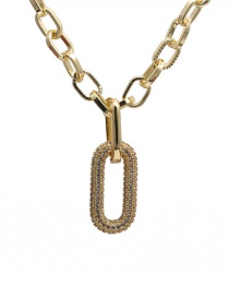 Fashion 60mm Chain + Accessories A Gold-plated Copper Necklace With Zircon