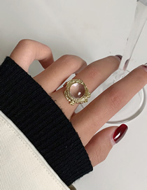 Fashion Gold Color Transparent Crystal Geometric Alloy Ring