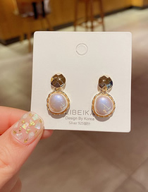 Fashion Gold Color Pearl Gold-plated Geometric Earrings