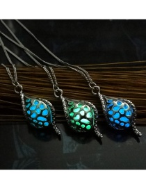 Fashion Mixed Color Delivery Hollow Conch Luminous Alloy Necklace