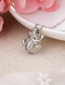 Fashion Silver Color Frog Natural Freshwater Pearl Hollow Alloy Necklace