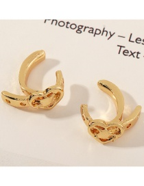 Fashion Golden Heart Alloy Belt Buckle Without Pierced Earrings