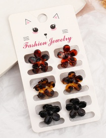 Fashion Flower Suit Frosted Acrylic Flower Geometric Shape Resin Clamp Set
