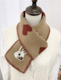 Fashion Love Rabbit Khaki Love Rabbit Knitted Scarf