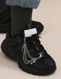 Fashion White K Three-dimensional Cross Chain Alloy Multi Shoe Chain