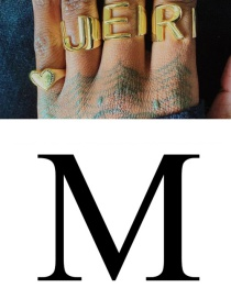 Fashion M 26 Letters Open Ring In Copper