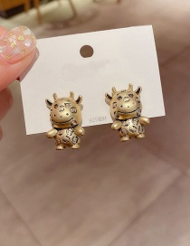 Fashion Distressed Distressed Small Animal Copper Gold-plated Earrings
