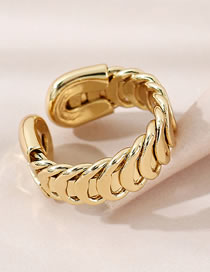 Fashion Gold Color Chain Gold-plated Copper Open Ring