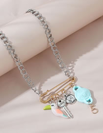Collar De Aleación Head Little Parrot Key