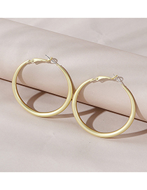 Fashion Golden Color Real Gold Plated Large Circle Hollow Earrings