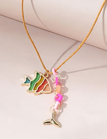 Fashion Color Mixing Painted Oily Fish Dripping Oil Alloy Childrens Necklace