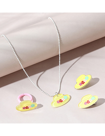 Fashion Hat Hat Resin Necklace Earrings Childrens Set