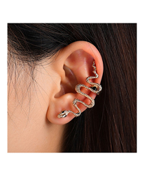 Fashion Gold Color Snake-shaped Alloy Unilateral Ear Clip