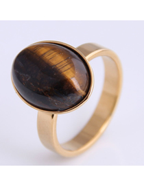 Fashion Gold Color Stainless Steel Ring