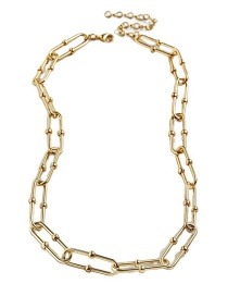 Fashion Golden Round Bead Buckle Copper Plating Necklace