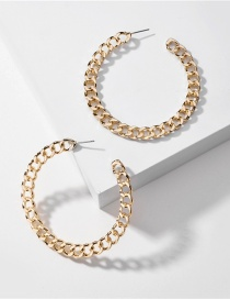 Fashion Golden Chain C-shaped Alloy Ear Ring