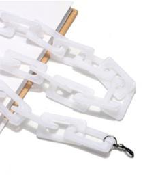 Fashion Milky Square Acrylic Glasses Chain