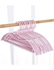 Fashion Pink Wide Shoulder Semicircle Seamless Plastic Non-slip Hanger