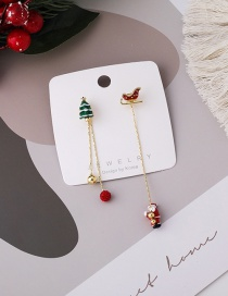 Fashion Red Santa Asymmetric Earrings
