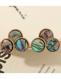 Fashion Color Geometric Round Abalone Earrings