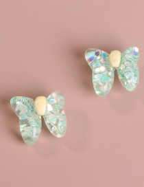 Fashion Butterfly Green Butterfly Strawberry Resin Alloy Earrings