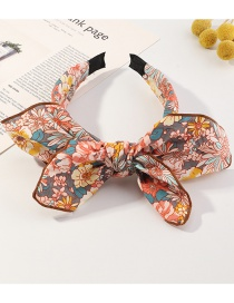 Fashion Printing Small Floral Bow Print Headband