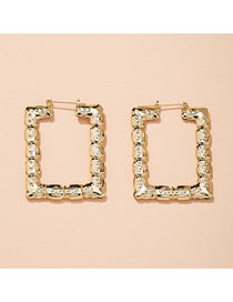 Fashion Gold Color Geometric Square Alloy Hollow Earrings