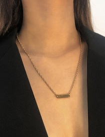 Fashion Gold Color Alloy Geometric Necklace