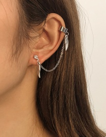 Fashion White K Alloy Wing Chain Ear Clip