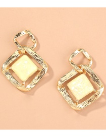 Fashion Gold Color Hollow Diamond Alloy Earrings