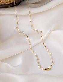 Fashion Pearl Chain Clause Pearl Crystal Chain Geometric Alloy Necklace