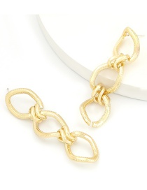 Fashion Gold Color Alloy Multilayer Chain-shaped Hollow Earrings