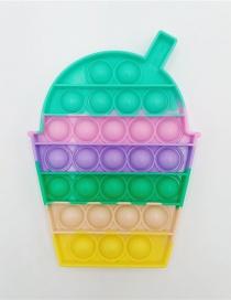 Fashion Macaron Beverage Cup Silicone Press Toy