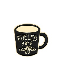 Fashion Coffee Cup 2 Coffee Cup Alloy Paint Letter Brooch