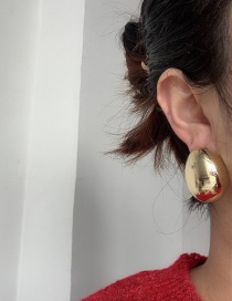 Fashion Golden Hollow Glossy Ball Alloy Geometric Earrings