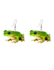 Fashion Frog Acrylic Frog Print Earrings