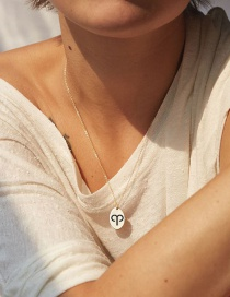 Fashion Golden Aries Stainless Steel Zodiac Pendant Gold Plated Necklace