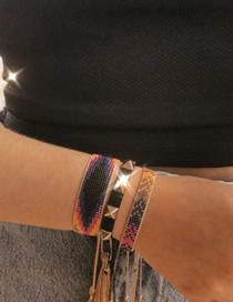 Fashion Set Price Mixed Color Rice Beads Hand-woven Gradient Beaded Bracelet