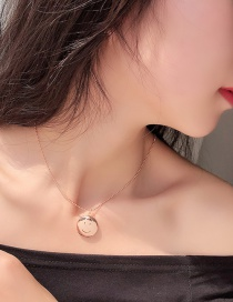 Fashion Gold Smiley Face Round Photo Box Gold-plated Copper Necklace