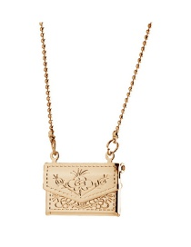 Fashion Gold Color Light Panel Pattern Small Bag Square Photo Box Can Hold Photo Necklace